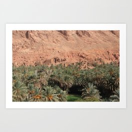 Oisis in Tinghir south of the High Atlas in Morocco Art Print