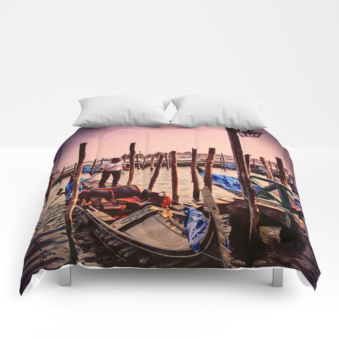 Venice in the evening Comforters