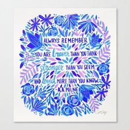 Always Remember – Indigo Palette Canvas Print