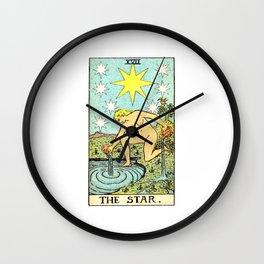 Vintage Tarot Card The Star Wall Clock