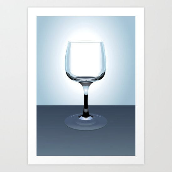 Glass Illustration Art Print