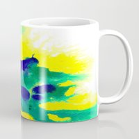 brazil Mugs featuring WATERCOLOR BRAZIL by Chrisb Marquez