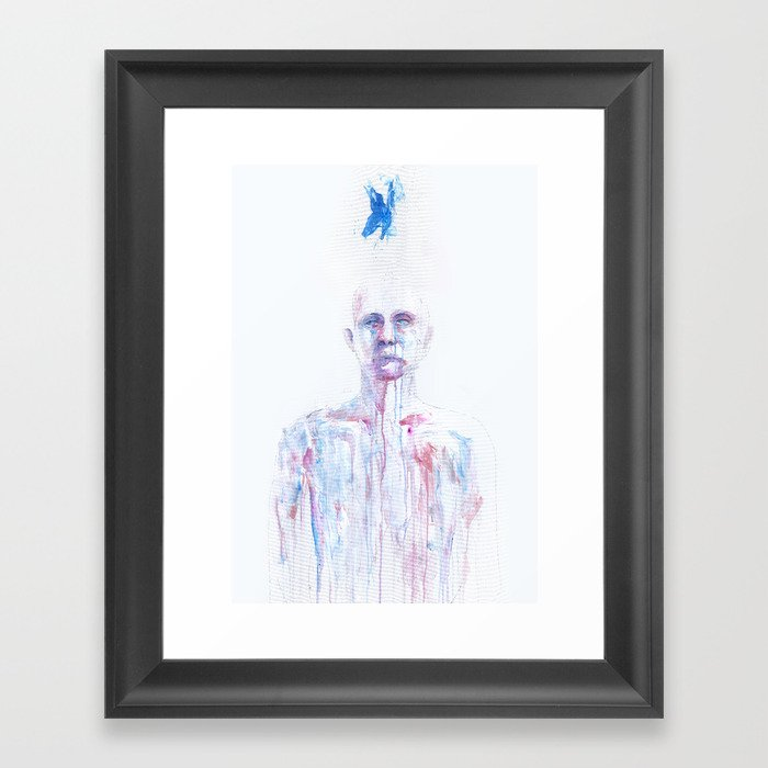 Last Blue Breath Framed Art Print