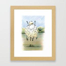 Jubilant Jumping  Sheep Framed Art Print