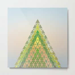 Geometric Pine Tree Metal Print