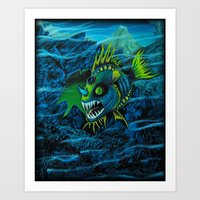 Unexplored Ocean Art Print