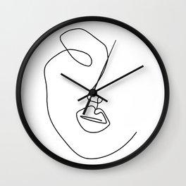 Minimal Abstract Line Face Wall Clock
