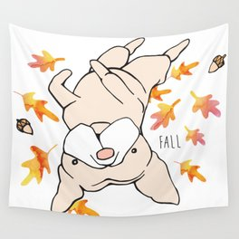 Fall Frenchie Wall Tapestry