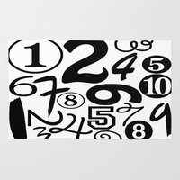 numbers Area & Throw Rugs featuring Numbers by Sweet Colors Gallery