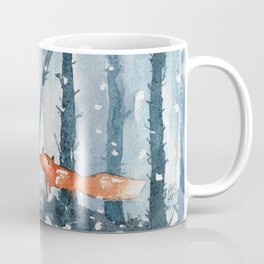 Foxes in forest Coffee Mug