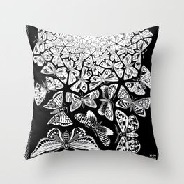 Escher - Butterflies Throw Pillow
