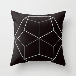 D12, Black Throw Pillow