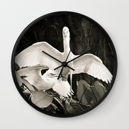 White bird dance 2 Wall Clock