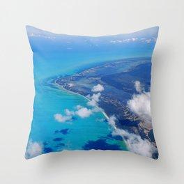 Coast of Mexico Throw Pillow