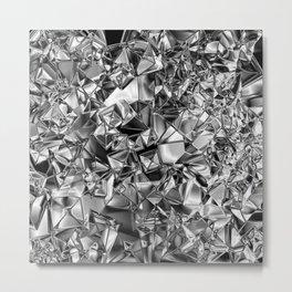 Foil crush  silver Metal Print