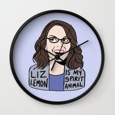 Liz Lemon is my spirit animal Wall Clock