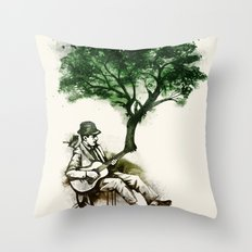 'In the rhythm of nature' Throw Pillow