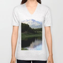 Evening Shadows on Andrews Lake Unisex V-Neck