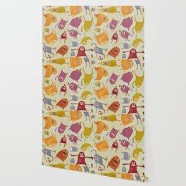 Watercolor Critter Pattern Alpha Wallpaper