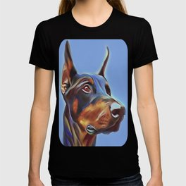Blue Doberman T-shirt