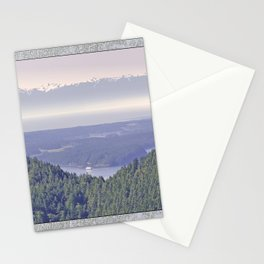 OLYMPIC RANGE AS SEEN FROM ORCAS ISLAND OVER MOUNT ENTRANCE Stationery Cards