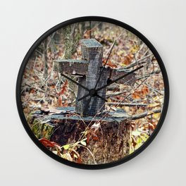 Cross in the Woods Wall Clock