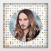 jared leto Canvas Prints featuring Jared Leto by Will Costa