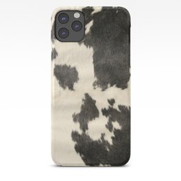 Black & White Cow Hide iPhone Case
