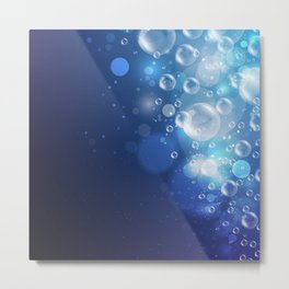 Illustraiton of underwater background with light rays Metal Print