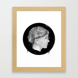 Mugshot The Girl Framed Art Print