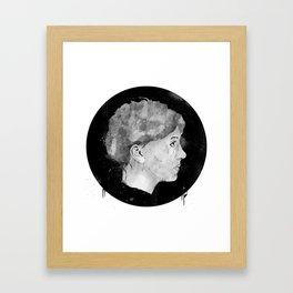 Mugshot The Girl Framed Art Print