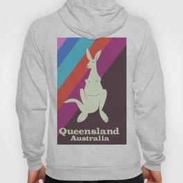 Queensland Australia, kangaroo travel poster Hoody