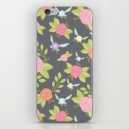 Garden of Fairies Pattern in Grey iPhone Skin