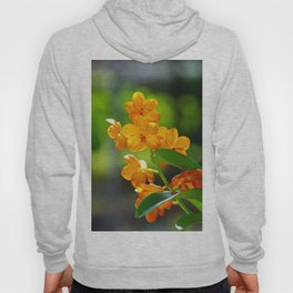 Orange orchid flower Hoody
