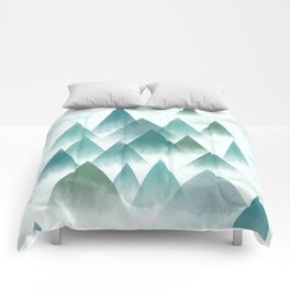 misty mountains Comforters