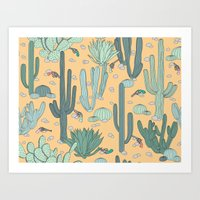 guns Art Prints featuring Succulent Guns by LaPenche