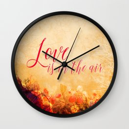 LOVE IS THE AIR Portrait Wall Clock