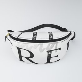 Wild and Free Silver Concrete Fanny Pack