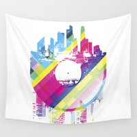 deadmau5 Wall Tapestries featuring Urban Vinyl V2 by Sitchko Igor
