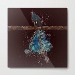 Peacock Elements: Air Metal Print