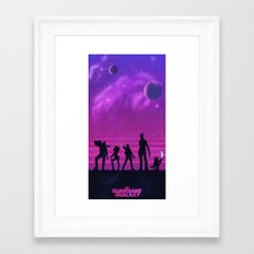 The Guardians of the Galaxy Framed Art Print