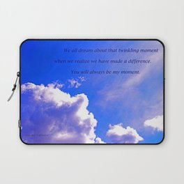 """Sunlight Clouds #25"" with poem ""Twinkling Moment"" Print Laptop Sleeve"