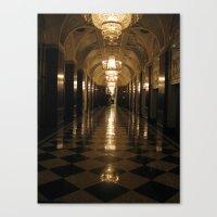 blair waldorf Canvas Prints featuring Waldorf Astoria  by Melia Metikos