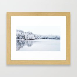 White Wonder Reflection Framed Art Print