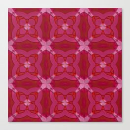 ornament red pink Canvas Print