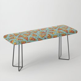 Funny pizza pattern Bench