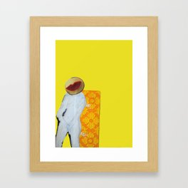 Old Bedsheets Framed Art Print