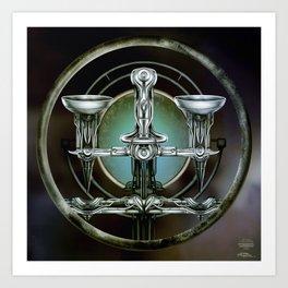 """""""Astrological Mechanism - Libra"""" Art Print"""