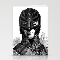 wrestling Stationery Cards featuring WRESTLING MASK 6 by DIVIDUS