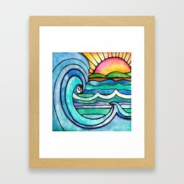 Beachy #society6 #spring #summer Framed Art Print